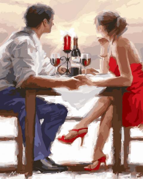 Фото Картины на холсте по номерам, Романтические картины. Люди KGX 8000