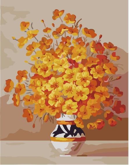 Фото Картины на холсте по номерам, Картины  в пакете (без коробки) 50х40см; 40х40см; 40х30см, Цветы, букеты, натюрморты GX 7333