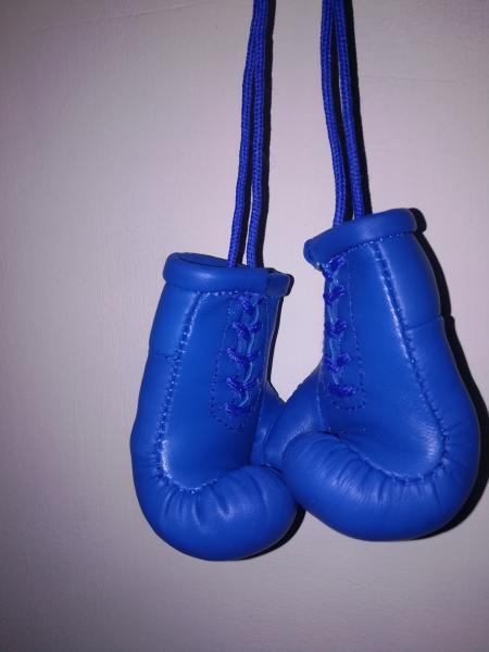 Фото  Сувенирные Кожаные Боксерские Перчатки