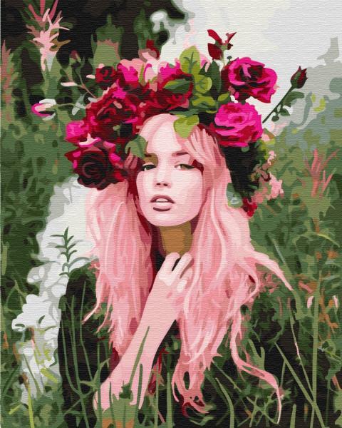Фото Картины на холсте по номерам, Романтические картины. Люди KGX 32687 Девушка весна Картина по номерам на холсте 40х50см