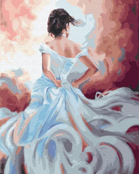Фото Картины на холсте по номерам, Романтические картины. Люди KGX 34007 Дама ветров Картина по номерам на холсте 40х50см