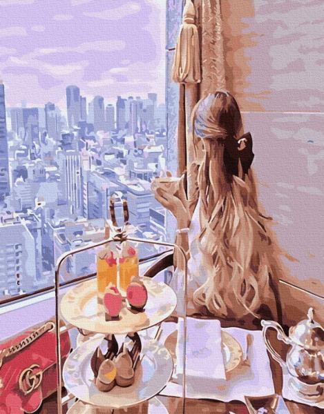 Фото  PGX 33804 Завтрак с видом мечты Premium 40x50см