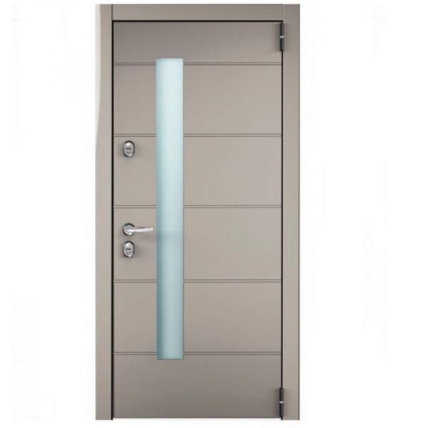 Фото ХИТЫ ПРОДАЖ / ТОП Дверь Титан -металл 2мм Optima Plus (темный хаки софтач)