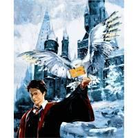 Фото Картины на холсте по номерам, Романтические картины. Люди VP 1118 Гарри Поттер и Букля Роспись по номерам на холсте 40х50см