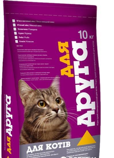 Корм для Котов Для Друга Говядина 10 кг