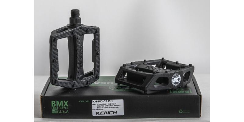 Фото ТРАНСМІСІЯ, Педалі Педалі для BMX Kench BLK нейлон-пластик з литим шипом