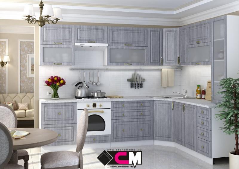 Фото Кухни модульные Кухня Юлия МДФ сандал серый (Стендмебель)