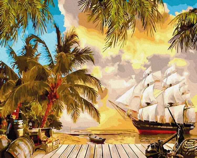 "Картина по номерам. Rainbow Art ""Карибский рай"" GX30112-RA"