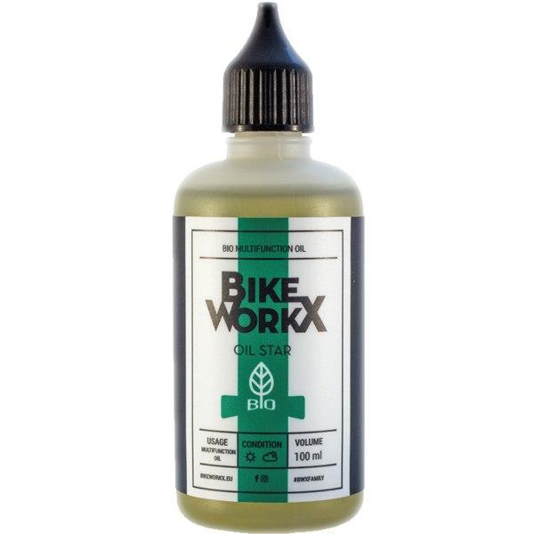 Фото ІНСТРУМЕНТИ, МАСТИЛА, ДОГЛЯД, Мастила, Очищувачі Масло універсальне BikeWorkX Oil Star BIO 100 мл.