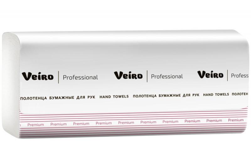 """Полотенца бумажные """"Veiro Professional Premium"""" V-сложения 1-слойные"""