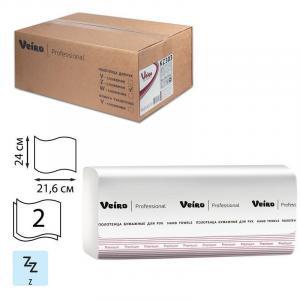 Фото Хозяйственные товары (ЦЕНЫ БЕЗ НДС), Полотенца, простыни бумажные, бумажный протирочный материал Полотенца бумажные Veiro Professional Premium Z-сложение (200 шт,уп)