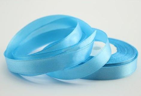 Фото Ленты, Лента атласная  однотонная 0,6-12мм Атласная лента  12мм ,цвет голубой , бобина 23 м