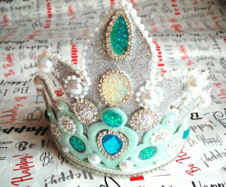 Фото Готовые изделия хенд мейд, Новогодние игрушки,короны ,снежинки Корона ,голубая