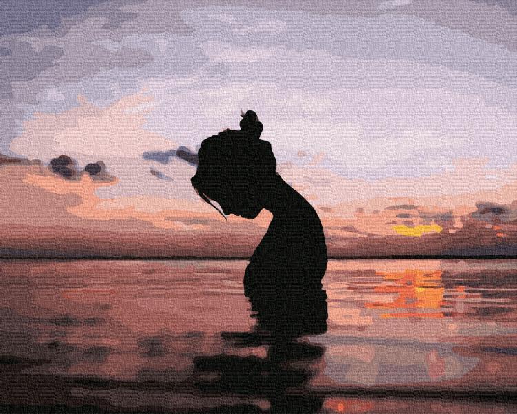 Фото Картины на холсте по номерам, Романтические картины. Люди KGX 36049 Подводный мир Картина по номерам на холсте 40х50см