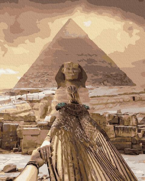 Фото Картины на холсте по номерам, Картины  в пакете (без коробки) 50х40см; 40х40см; 40х30см, Романтические картины. Люди. KGX 37193 Следуй за мной. Египет Картина по номерам на холсте 40х50см