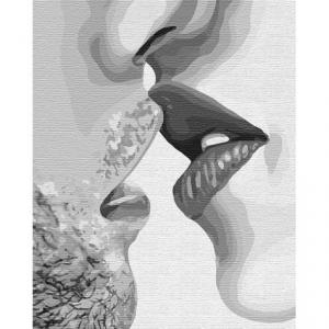 Фото Картины на холсте по номерам, Романтические картины. Люди KH 4752 Целуй меня Картина по номерам на холсте 40х50см