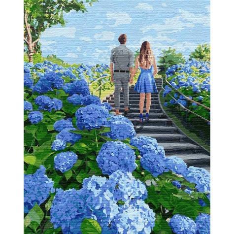 Фото Картины на холсте по номерам, Романтические картины. Люди KH 4753 Гуляя вдвоем Картина по номерам на холсте 40х50см