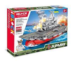 Фото Конструкторы, Конструкторы типа «Лего», Милитари (армия и флот) PL-920-177 Конструктор Iblock Авианосец, 458 дет.