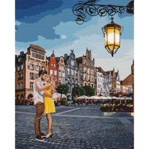 Фото Картины на холсте по номерам, Романтические картины. Люди KH 4755 Свидание в Гданьске Картина по номерам на холсте 40х50см