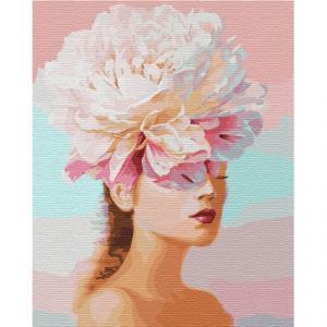 Фото Картины на холсте по номерам, Романтические картины. Люди KH 4765 Цветочные мысли Картина по номерам на холсте 40х50см