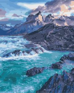 Фото Картины на холсте по номерам, Морской пейзаж AS 0375