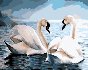Фото Картины на холсте по номерам, Животные. Птицы. Рыбы... AS 0390