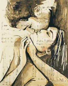 Фото Картины на холсте по номерам, Романтические картины. Люди AS 0431