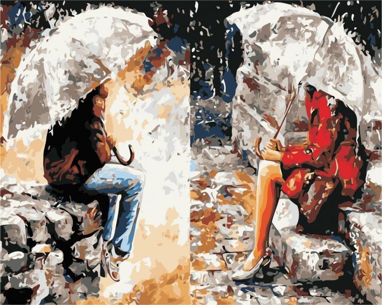 Фото Картины на холсте по номерам, Романтические картины. Люди AS 0435