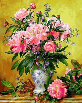 Фото Картины на холсте по номерам, Букеты, Цветы, Натюрморты Q 2164