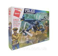 Фото Конструкторы, Конструкторы типа «Лего», Полиция. Пожарная охрана 1922 Конструктор Qman Полицейский вертолет 402 детали