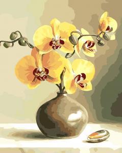 Фото Картины на холсте по номерам, Букеты, Цветы, Натюрморты AS 0019