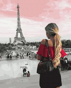 Фото Картины на холсте по номерам, Городской пейзаж GX 36129 Встреча с Парижем Картина по номерам  40х50см без коробки, в пакете