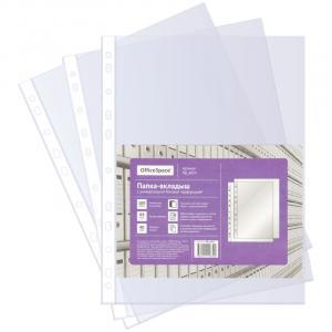 Фото Папки, файлы, планшеты, портфели, сумки (ЦЕНЫ БЕЗ НДС), Папки с файлами Папка-вкладыш с перфорацией OfficeSpace, А4, 40мкм, глянцевая,100 шт.