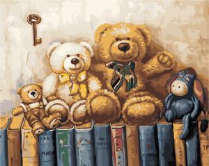 Фото Картины на холсте по номерам, Животные. Птицы. Рыбы... AS 0912 Любимые игрушки Картина по номерам на холсте Art Story 40x50см