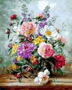 Фото Картины на холсте по номерам, Букеты, Цветы, Натюрморты VP 1057