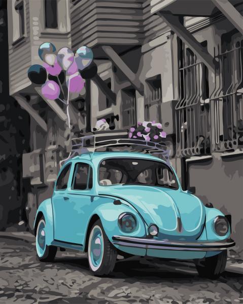 Фото Картины на холсте по номерам, Городской пейзаж AS 0696 Яркий день Картина по номерам на холсте Art Story 40x50см