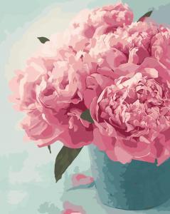 Фото Картины на холсте по номерам, Букеты, Цветы, Натюрморты AS 0017