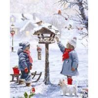 Фото Картины на холсте по номерам, Зима! Новый Год! Рождество! VP 1001