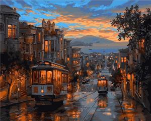 Фото Картины на холсте по номерам, Городской пейзаж VP 487 Роспись по номерам на холсте 40х50см