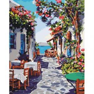Фото Картины на холсте по номерам, Картины  в пакете (без коробки) 50х40см; 40х40см; 40х30см, Пейзаж, морской пейзаж. KHO 2169