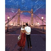 Фото Картины на холсте по номерам, Романтические картины. Люди KH 4663 Город влюбленных Картина по номерам на холсте 40х50см