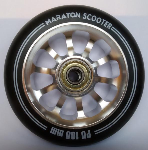 Фото ТРЮКОВІ САМОКАТИ Колеса для самокатів Maraton Алюміній 100 мм (Металік)