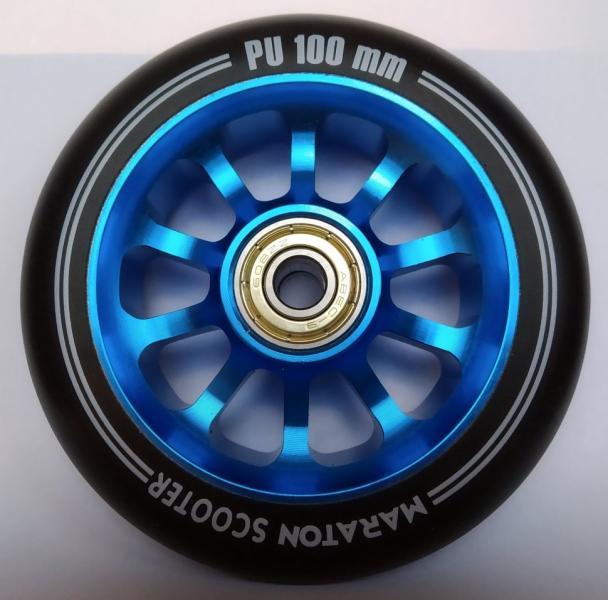 Фото ТРЮКОВІ САМОКАТИ Колеса для самокатів Maraton Алюміній 100 мм (Синій)