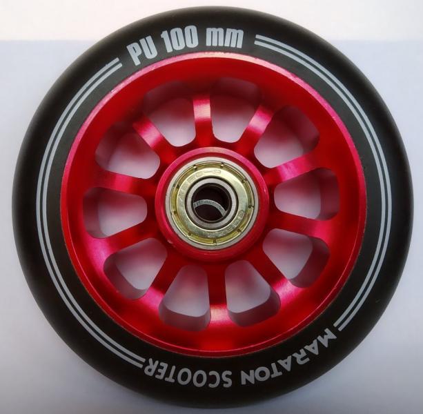 Колеса для самокатів Maraton Алюміній 100 мм (Червоний)