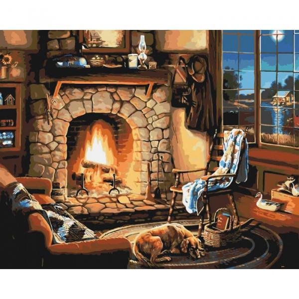 Фото Картины на холсте по номерам, Загородный дом KH 2236