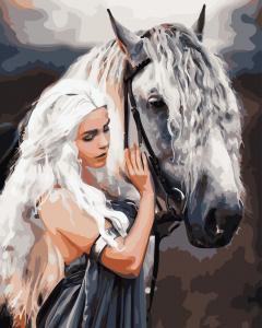 Фото Картины на холсте по номерам, Романтические картины. Люди AS 0747 Сказочная принцесса Картина по номерам на холсте Art Story 40x50см