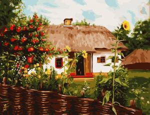 Фото Картины на холсте по номерам, Картины по номерам 50х65см AS 0826 Лето в деревне Картина по номерам на холсте ART STORY 50x65см