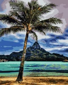 Фото Картины на холсте по номерам, Морской пейзаж AS 0716 На Гаваях Картина по номерам на холсте Art Story 40x50см