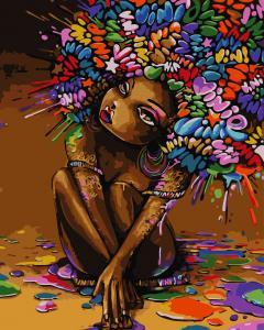 Фото Картины на холсте по номерам, Дети на картине AS 0753 Разноцветная красота Картина по номерам на холсте Art Story 40x50см