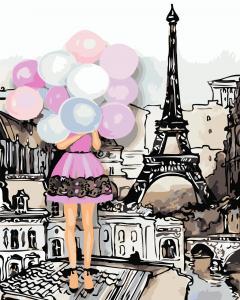 Фото Картины на холсте по номерам, Романтические картины. Люди AS 0760 Краски Парижа Картина по номерам на холсте Art Story 40x50см